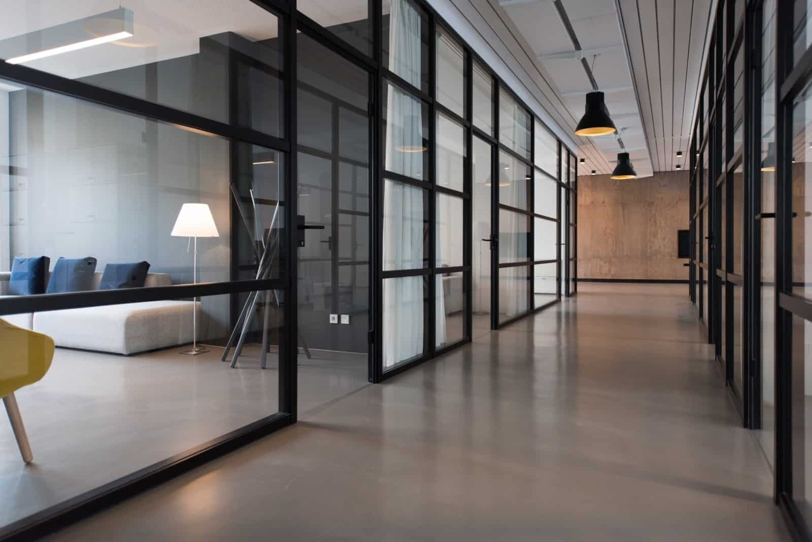 Corridor of a modern office building