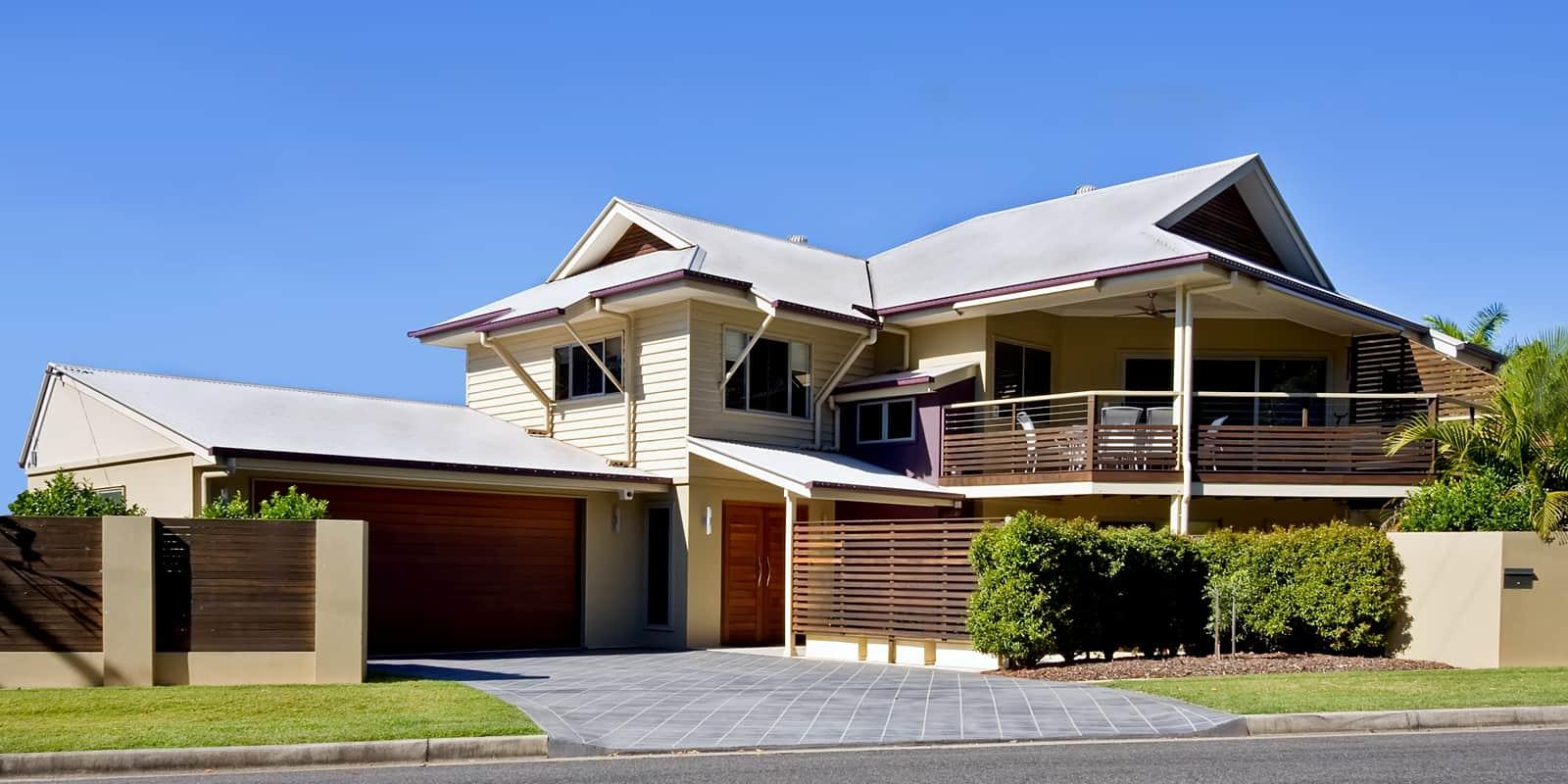 A large suburban house in Australia