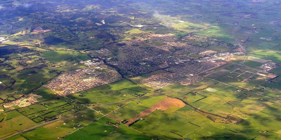 Image of Pakenham, Victoria, from the air